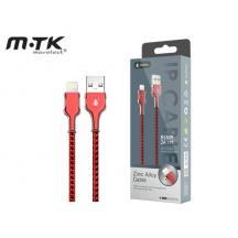 MTK ΚΑΛΩΔΙΟ ΓΙΑ IPHONE 5/6/7/8/X USB 2.0 2Α 1m B5809 2101823 ΚΟΚΚΙΝΟ