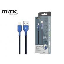 MTK ΚΑΛΩΔΙΟ ΓΙΑ IPHONE 5/6/7/8/X USB 2.0 2Α 1m B5809 2101825 ΜΠΛΕ