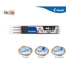 PILOT FRIXION POINT ΑΝΤΑΛΛΑΚΤΙΚΟ ΜΕΛΑΝΙ 0.5mm ΜΑΥΡΟ 3Τ. 12ΣΕΤ