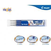PILOT FRIXION POINT ΑΝΤΑΛΛΑΚΤΙΚΟ ΜΕΛΑΝΙ 0.5mm ΜΠΛΕ 3Τ. 12ΣΕΤ
