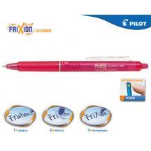 PILOT ΣΤΥΛΟ FRIXION CLICKER 0.7mm ΡΟΖ 12Τ.