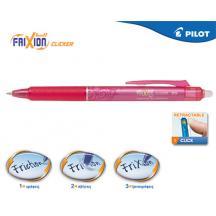 PILOT ΣΤΥΛΟ FRIXION CLICKER 0.5mm ΡΟΖ 12Τ.